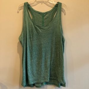 Loft heathered green tank top